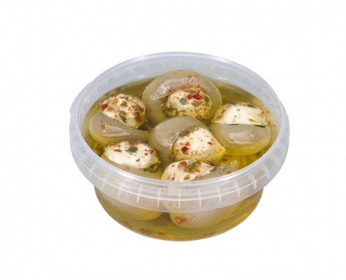 Champignons gefüllt mit Frischkäse